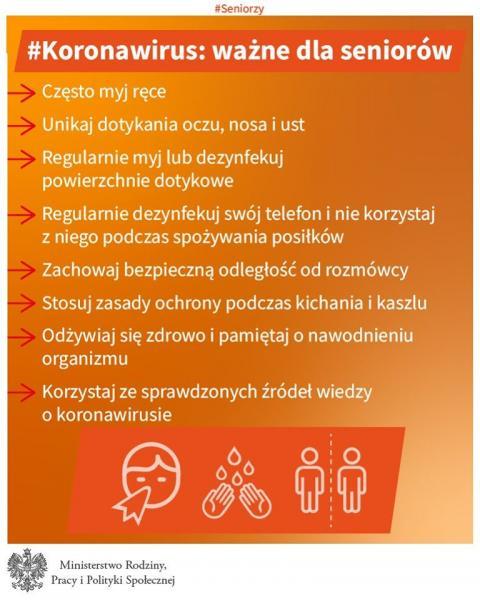 Uwaga koronawirus - zalecenia